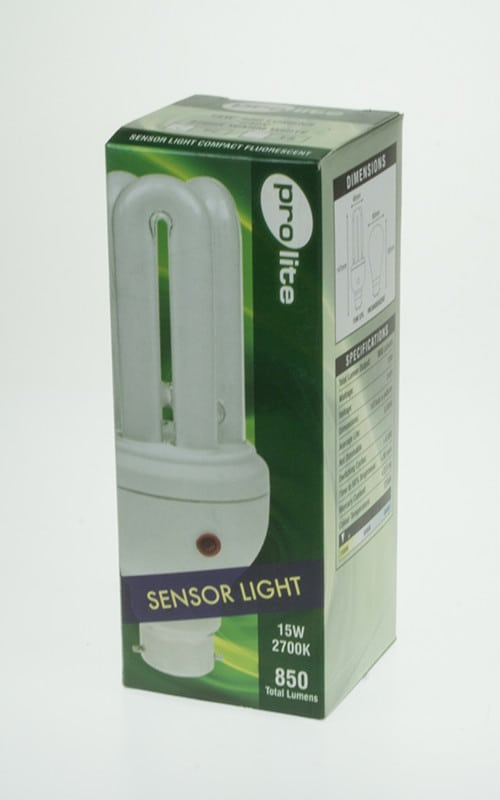 15w Triple Turn Dusk Till Dawn Sensor Compact Fluorescent Lamp