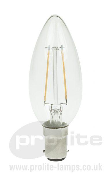 2W LED Filament Candle