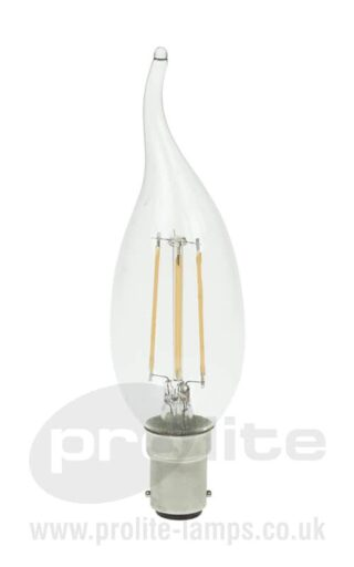 3W LED Flame Tipped Filament Candle