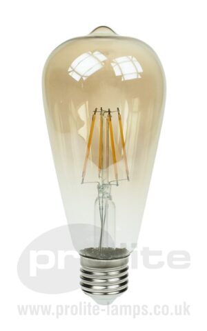 LED ST64 Gold Tint Filament Lamps