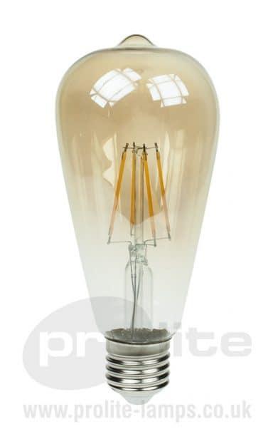 LED ST64 Gold Tint Filament Lamps