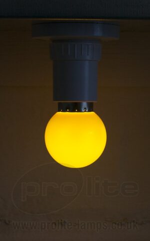 1W Yellow Golf Ball LED
