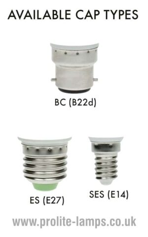 Available Cap Types - BC, ES, SES