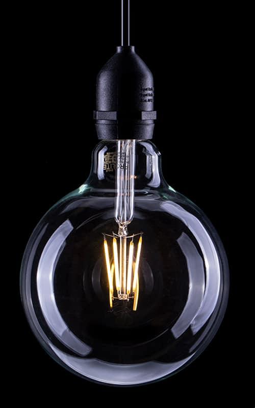G125 6W LED Filament Globe Lamps