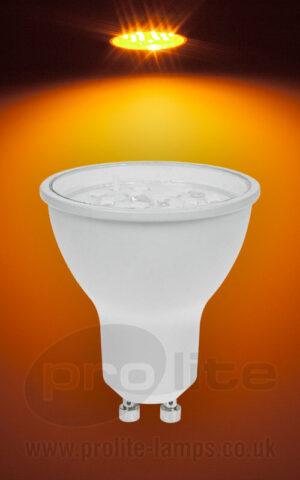 Prolite GU10 240V 7W Amber